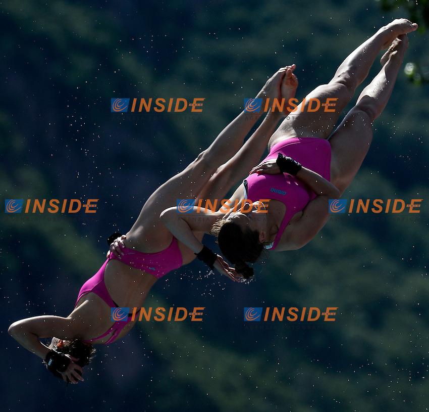 Villo Kormos, Zsofia Reisenger Hungary <br /> Bolzano 30/6/2013 Piscina Lido<br /> 19th Fina Diving Grand Prix <br /> Piattaforma Sincro Donne - Women's Synchro Platform <br /> Tuffi <br /> Foto Andrea Staccioli Insidefoto