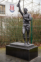 11th January 2020; Bet365 Stadium, Stoke, Staffordshire, England; English Championship Football, Stoke City versus Milwall FC; The Stanley Matthews statue outside the Bet365 Stadium - Strictly Editorial Use Only. No use with unauthorized audio, video, data, fixture lists, club/league logos or 'live' services. Online in-match use limited to 120 images, no video emulation. No use in betting, games or single club/league/player publications