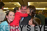 1755-1768.Tom Sheehan (FG) celebrates with his family, l-r. Kate, Laura, Mary and Tommy at the South Kerry count in The Malton Hotel, Killarney, last Friday evening...