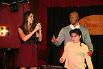 All My Children's Chrishell Stause & J.R. Martinez with a young lady on her 21st birthday as they came to see fans on November 22, 2009 at the Brokerage Comedy Club & Vaudeville Cafe, Bellmore, NY for a Q & A, autographs and photos. (Photo by Sue Coflin/Max Photos)