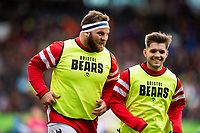 Lewis Thiede and Harry Randall of Bristol Bears. Gallagher Premiership match, between Leicester Tigers and Bristol Bears on April 27, 2019 at Welford Road in Leicester, England. Photo by: Patrick Khachfe / JMP