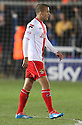 Jimmy Smith of Stevenage leaves the field after being shown the red card<br />  - Peterborough United v Stevenage - Sky Bet League One - London Road, Peterborough - 23rd November 2013. <br /> © Kevin Coleman 2013
