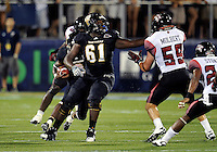 Florida International University football player defensive tackle Curtis Bryant (61) plays against the University of Louisiana-Lafayette on September 24, 2011 at Miami, Florida. Louisiana-Lafayette won the game 36-31. .