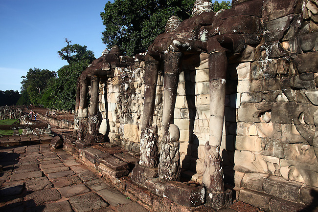 The Elephant Terrace at Angkor Thom, Cambodia. June 8, 2013.