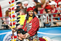 September 27, 2008,  FSU vs Colorado at Jacksonville Municipal Stadium in Jacksonville, Florida..Chief Osceola , the FSU mascot rides Renegade during first half non-conference action...