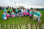 Bride Cronin, Riona Downey, AAlyah Mulumba, Jessica Raymond and 5th and 6th class girls  from Holy family and Blennervile NS at the The Tralee Rugby Club give it a try event day on Monday All Girls are welcome again this Saturday 6th February  at the club from 10.30 to 12