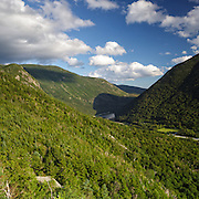 This is the image for the month of July in the 2015 White Mountains New Hampshire calendar. Franconia Notch State Park from Eagle Cliff in the White Mountains, New Hampshire USA. It can be purchased here: http://bit.ly/1audUBp