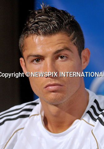 "CRISTIANO RONALDO.at the Herbalife World Football Challenge Superstar Press Conference at Creative Artists Agency's Ray Kurtzman Theatre, Century City, California_12/07/2011.Mandatory Photo Credit: ©Crosby/Newspix International. .**ALL FEES PAYABLE TO: ""NEWSPIX INTERNATIONAL""**..PHOTO CREDIT MANDATORY!!: NEWSPIX INTERNATIONAL(Failure to credit will incur a surcharge of 100% of reproduction fees).IMMEDIATE CONFIRMATION OF USAGE REQUIRED:.Newspix International, 31 Chinnery Hill, Bishop's Stortford, ENGLAND CM23 3PS.Tel:+441279 324672  ; Fax: +441279656877.Mobile:  0777568 1153.e-mail: info@newspixinternational.co.uk"