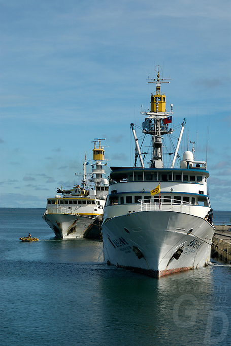 COMMERCIAL FISHING TRAWLERS<br /> IN POHNPEI HARBOR, MICRONESIA