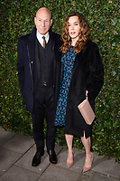 Sir Patrick Stewart &amp; Sunny Ozell arriving for the 2018 Charles Finch &amp; CHANEL Pre-Bafta party, Mark's Club Mayfair, London, UK. <br /> 17 February  2018<br /> Picture: Steve Vas/Featureflash/SilverHub 0208 004 5359 sales@silverhubmedia.com