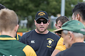 Pukekohe Coach Mark Price. Counties Manukau Premier Counties Power Game of the Week Club Rugby Round 4 game between Pukekohe and Ardmore Marist, played at Colin Lawrie Fields Pukekohe on Friday March 30th 2018.<br /> Ardmore Marist won the game 27 - 21 after leading 13 - 11 at halftime.<br /> Pukekohe Mitre 10 Mega 21 -Trent White, Samu Pailegutu tries, Sione Fifita conversion, Sione Fifita 2, Vilitati Sabani penalties. Ardmore Marist South Auckland Motors 27 - Katetistoti Nginingini, Karl Ropati, Alefosio Tapili tries, Latiume Fosita 3 conversions, Latiume Fosita 2 penalties. <br /> Photo by Richard Spranger.