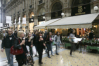 La Galleria Vittorio Emanuele, a Milano.<br /> Scene in the Galleria Vittorio Emanuele, <br /> Milan.<br /> UPDATE IMAGES PRESS/Riccardo De Luca