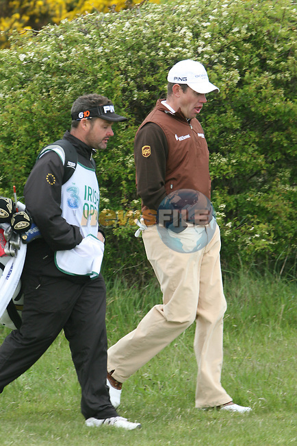 Lee Westwood during the Pro-Am at the Irish Open in Co.Louth Golf Club,  Baltray...Photo NEWSFILE/Jenny Matthews.(Photo credit should read Jenny Matthews/NEWSFILE)....This Picture has been sent you under the condtions enclosed by:.Newsfile Ltd..The Studio,.Millmount Abbey,.Drogheda,.Co Meath..Ireland..Tel: +353(0)41-9871240.Fax: +353(0)41-9871260.GSM: +353(0)86-2500958.email: pictures@newsfile.ie.www.newsfile.ie.FTP: 193.120.102.198.