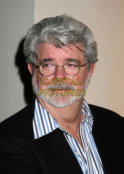 "GEORGE LUCAS.Writers Guild of America unveils ""101 Greatest Screenplays"", Beverly Hills, California, USA,.06 April 2006..portrait headshot grey beard glasses.Ref: ADM/BP.www.capitalpictures.com.sales@capitalpictures.com.©Byron Purvis/AdMedia/Capital Pictures."