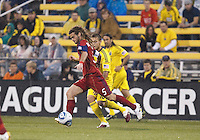 24 APRIL2010:  Real Salt Lakes' Kyle Beckerman (5) during the Real Salt Lake at Columbus Crew MLS soccer game in Columbus, Ohio. Columbus Crew defeated RSL 1-0 on April 24, 2010.