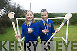 MEDALS: wo pupils from Knocknagree National School who won camogie medals in the Abhann Dubh Camogie League were l-r: Rebecca O'Sullivan and Cait O'Mahony.