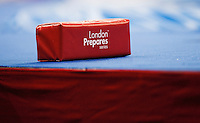 11 DEC 2011 - LONDON, GBR - Even sponges for the corners at the London International Wrestling Invitational which doubled as the London Prepares series test event for the 2012 Olympic Games were specially made for the occasion (PHOTO (C) NIGEL FARROW)