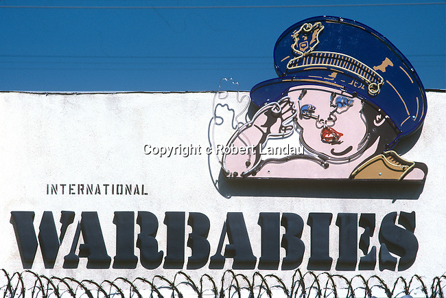 War Babies storefront sign on Melrose Ave. in West Hollywood circ 1989