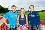 Fittest family, L-R Jason, Sandra&Eamonn Hickson from Anascaul at An Riocht Athletic Track, Castleisland last Thursday evening, July 25.