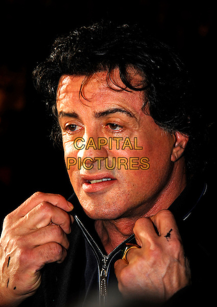 "SYLVESTER ""SLY"" STALLONE.At the UK Film Premiere of ""Rocky Balboa"", .Vue West End Cinema, London, England,.January 16th 2007..portrait headshot hands.CAP/IA.©Ian Allis/Capital Pictures"