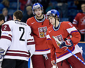 Janis Kalnins (Latvia - 2), Tomas Vincour (Czech Republic - 22), ? - Team Czech Republic defeated Team Latvia 10-2 on Sunday, January 3, 2010 in relegation play at Credit Union Centre in Saskatoon, Saskatchewan during the 2010 World Juniors tournament.