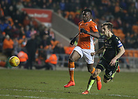 Bristol Rovers' Tom Lockyer and Blackpool's Armand Gnanduillet<br /> <br /> Photographer Stephen White/CameraSport<br /> <br /> The EFL Sky Bet League One - Blackpool v Bristol Rovers - Saturday 13th January 2018 - Bloomfield Road - Blackpool<br /> <br /> World Copyright &copy; 2018 CameraSport. All rights reserved. 43 Linden Ave. Countesthorpe. Leicester. England. LE8 5PG - Tel: +44 (0) 116 277 4147 - admin@camerasport.com - www.camerasport.com
