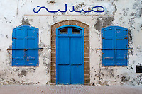Essaouira, Morocco.  Pharmacy in the Medina, before opening hours.