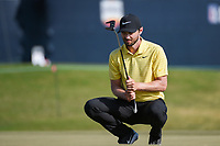 Kyle Stanley (USA) lines up his putt on 18 during round 4 of the 2019 Houston Open, Golf Club of Houston, Houston, Texas, USA. 10/13/2019.<br /> Picture Ken Murray / Golffile.ie<br /> <br /> All photo usage must carry mandatory copyright credit (© Golffile | Ken Murray)