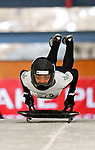 15 December 2006: Alexa Putnam from the US Virgin Islands, starts her run at the FIBT Women's World Cup Skeleton Competition at the Olympic Sports Complex on Mount Van Hoevenburg  in Lake Placid, New York, USA. &amp;#xA;&amp;#xA;Mandatory Photo credit: Ed Wolfstein Photo<br />