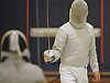 Jonathan Sheng of Jericho, right, battles in sabre during the boys fencing Long Island Championship against Ward Melville at Jericho High School on Tuesday, Feb. 6, 2017.