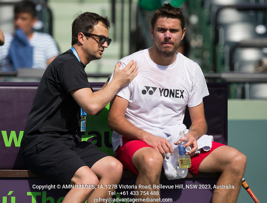 STANISLAS WAWRINKA (SUI)<br /> Tennis - Sony Open - ATP-WTA -  Miami -  2014  - USA  -  17 March 2014. <br /> &copy; AMN IMAGES