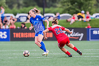 Boston, MA - Saturday July 01, 2017: Julie King and Meggie Dougherty Howard during a regular season National Women's Soccer League (NWSL) match between the Boston Breakers and the Washington Spirit at Jordan Field.