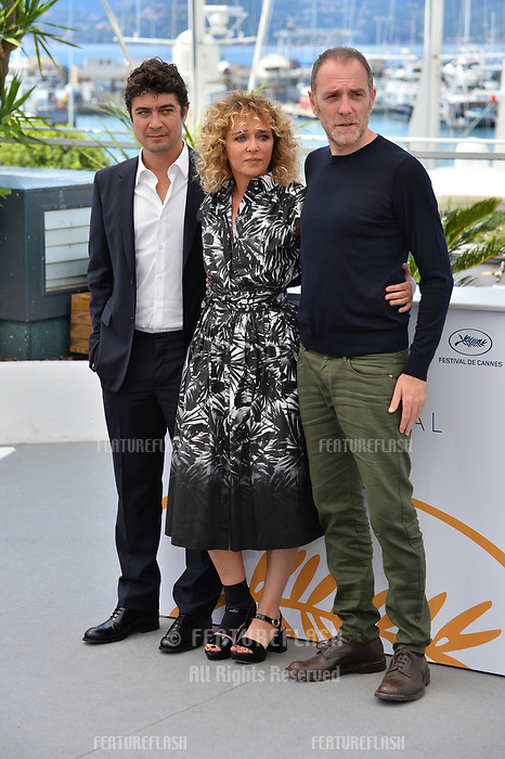 Riccardo Scamarcio, Valeria Golino &amp; Valerio Mastandrea at the photocall for &quot;Euforia&quot; at the 71st Festival de Cannes, Cannes, France 15 May 2018<br /> Picture: Paul Smith/Featureflash/SilverHub 0208 004 5359 sales@silverhubmedia.com