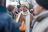 Followers of the Krishna religion protest against a change in Hungarian regulations that would forbid their community to stay to be an officially registered church and forces them to become a foundation taking away their lands and other properties. Government promised to solve their problem before the start of their demonstration in Budapest, Hungary on December 13, 2011. ATTILA VOLGYI