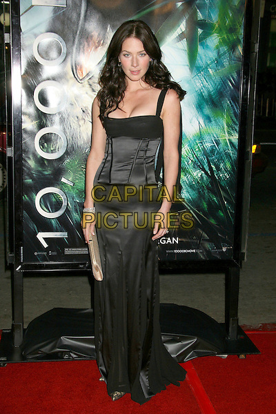 """LYNN COLLINS.""""10,000 B.C."""" US Premiere held at Grauman's Chinese Theatre, Hollywood, California, USA..March 5th, 2008.full length black dress corset top .CAP/ADM/RE.©Russ Elliot/AdMedia/Capital Pictures."""