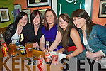 Emmets Ladies Football Quiz night: Attending the Listowel Emmets Ladie Football Quiz at Joh B Keanes pu in Listowel on Friday night were Eileen Stack, Siobhan Stack, Marion Keane, Danielle O'Connor & Amanda O'Donnell.