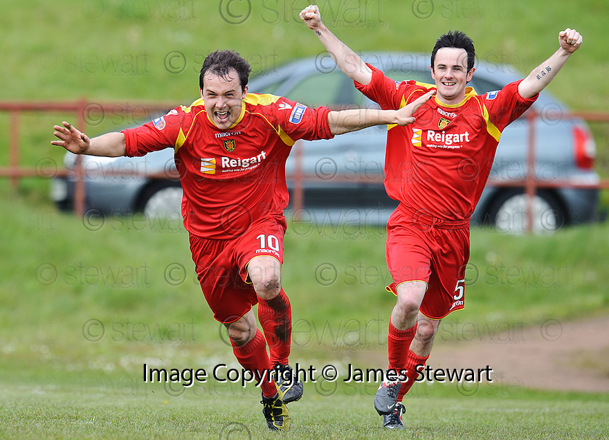 Albion's Scott Chaplain (10) celebrates after he scores the late winner with a spectacular over head kick .....