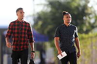 San Jose, CA - Wednesday September 27, 2017: Danny Hoesen, Quincy Amarikwa during a Major League Soccer (MLS) match between the San Jose Earthquakes and the Chicago Fire at Avaya Stadium.