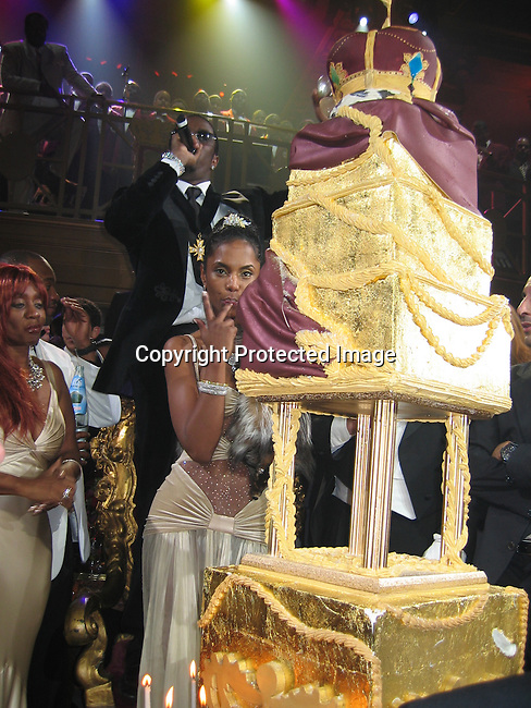 Sean P. Diddy Combs, Kim Porter, Janice Cambs<br />
