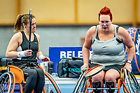 Alphen aan den Rijn, Netherlands, December 18, 2019, TV Nieuwe Sloot,  NK Tennis, Wheelchair doubles:  Ilse van de Burgwal (NED) and Kelly van der Ven (NED) (L)<br /> Photo: www.tennisimages.com/Henk Koster