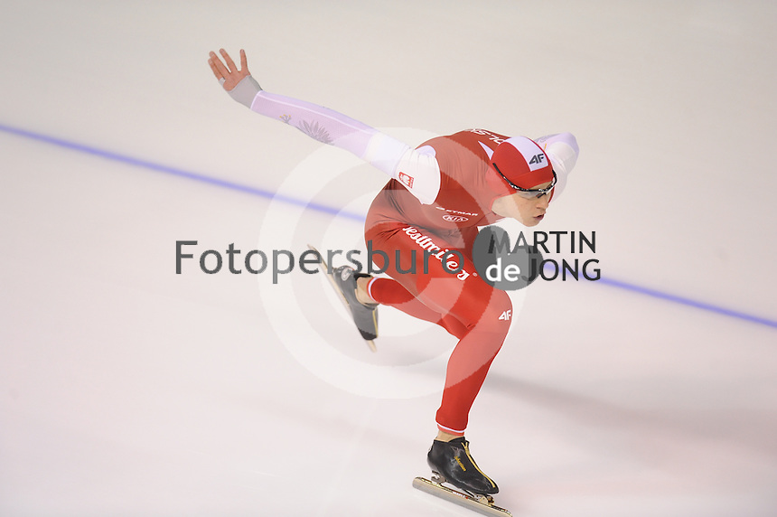 SPEEDSKATING: CALGARY: Olympic Oval, 25-02-2017, ISU World Sprint Championships, 1000m Men, Sebastian Klosinski (POL), ©photo Martin de Jong
