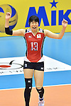 Risa Shinnabe (JPN),<br /> AUGUST 18, 2013 - Volleyball :<br /> 2013 FIVB World Grand Prix, Preliminary Round Week 3 Pool M match Japan 3-2 Czech Republic at Sendai Gymnasium in Sendai, Miyagi, Japan. (Photo by Ryu Makino/AFLO)