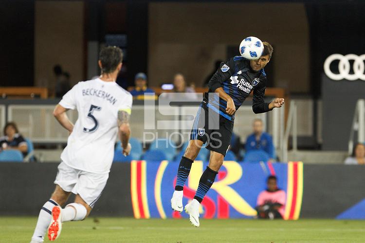 San Jose, CA - Saturday July 28, 2018: Chris Wondolowski during a Major League Soccer (MLS) match between the San Jose Earthquakes and Real Salt Lake at Avaya Stadium.