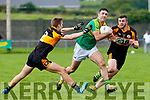 Austin Stacks Dylan Casey & Ciaran O'Reilly close down this attack from Bryan Sheehan.