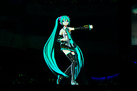 LONDON, ENGLAND - JANUARY 11: Hatsune Miku performing at Brixton Academy on January 11, 2020 in London, England.<br /> CAP/MAR<br /> ©MAR/Capital Pictures