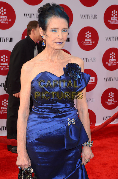 10 April 2014 - Hollywood, California - Margaret O'Brien. Arrivals for the world premiere of the restoration of &quot;Oklahoma&quot; held at the TCL Chinese Theatre IMAX in Hollywood, Ca.  <br /> CAP/ADM/BT<br /> &copy;Birdie Thompson/AdMedia/Capital Pictures