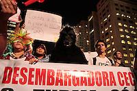 SÃO PAULO, SP - 05.07.2013: MANIFESTAÇÃO DIA DO BASTA SP- Manifestantes durante o ATO DIA DO BASTA, a manifestação que ocorre na Av Paulista pede a saida imediata de Renan Calheiros, aprovação da PEC 280 e contra a PEC 33.  (Foto: Marcelo Brammer/Brazil Photo Press)