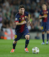 FUSSBALL   INTERNATIONAL   CHAMPIONS LEAGUE   2012/2013      FC Barcelona - Celtic FC Glasgow       23.10.2012 Lionel Messi (Barca) am Ball
