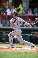 Richmond Flying Squirrels outfielder Devin Harris (15) at bat during a game against the Erie Seawolves on May 20, 2015 at Jerry Uht Park in Erie, Pennsylvania.  Erie defeated Richmond 5-2.  (Mike Janes/Four Seam Images)
