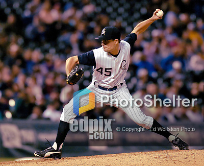 9 September 2006: Mike Venafro, pitcher for the Colorado Rockies, in action against the Washington Nationals. The Rockies defeated the Nationals 9-5 at Coors Field in Denver, Colorado.&amp;#xA;&amp;#xA;Mandatory Photo Credit: Ed Wolfstein.<br />